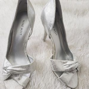 Nine West Jojus silver heels